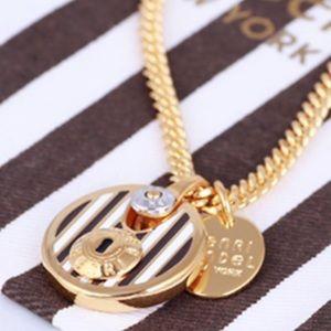 NWOT Henri Bendel Centennial Stripe Charm Necklace